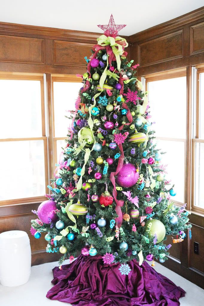 colorful christmas tree decoration - Colorful Christmas Trees