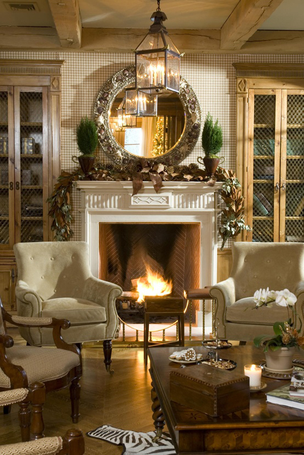 Christmas Fireplace Decorating Ideas Pinterest