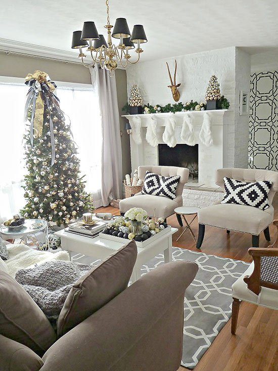 50 christmas living room decor ideas - Christmas living room decor ...