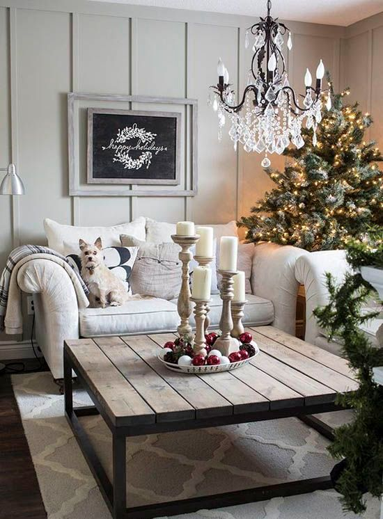 50 christmas living room decor ideas for Christmas decor ideas for living room