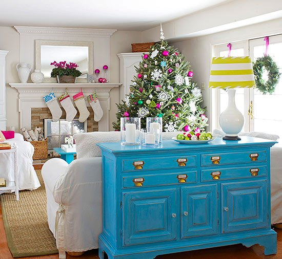 Christmas Living Room Decor Ideas (47)