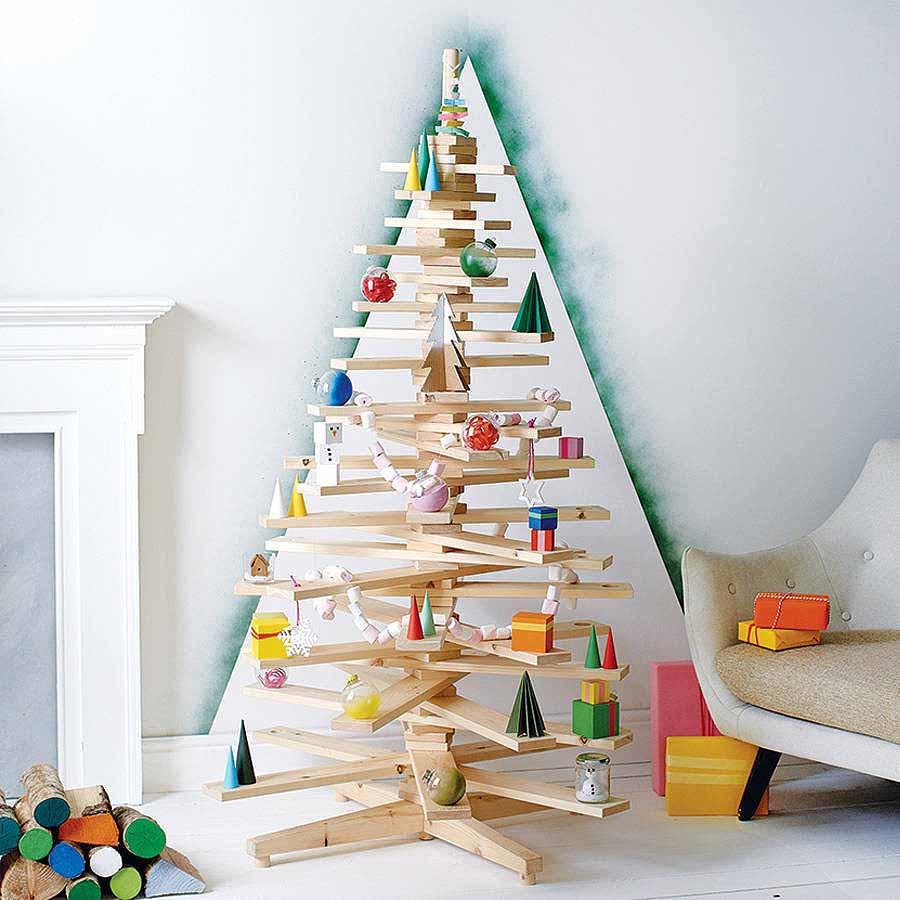 Christmas tree made from pine lumber Thewowdecor