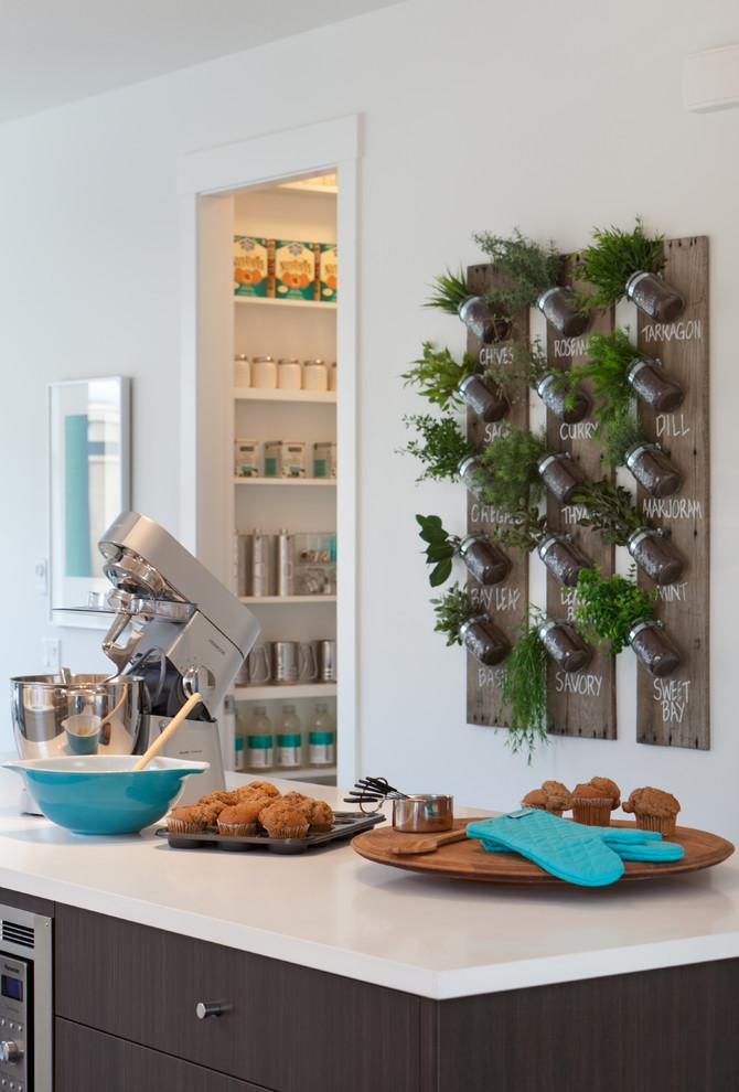 Contemporary Kitchen With Custom Garden Herb