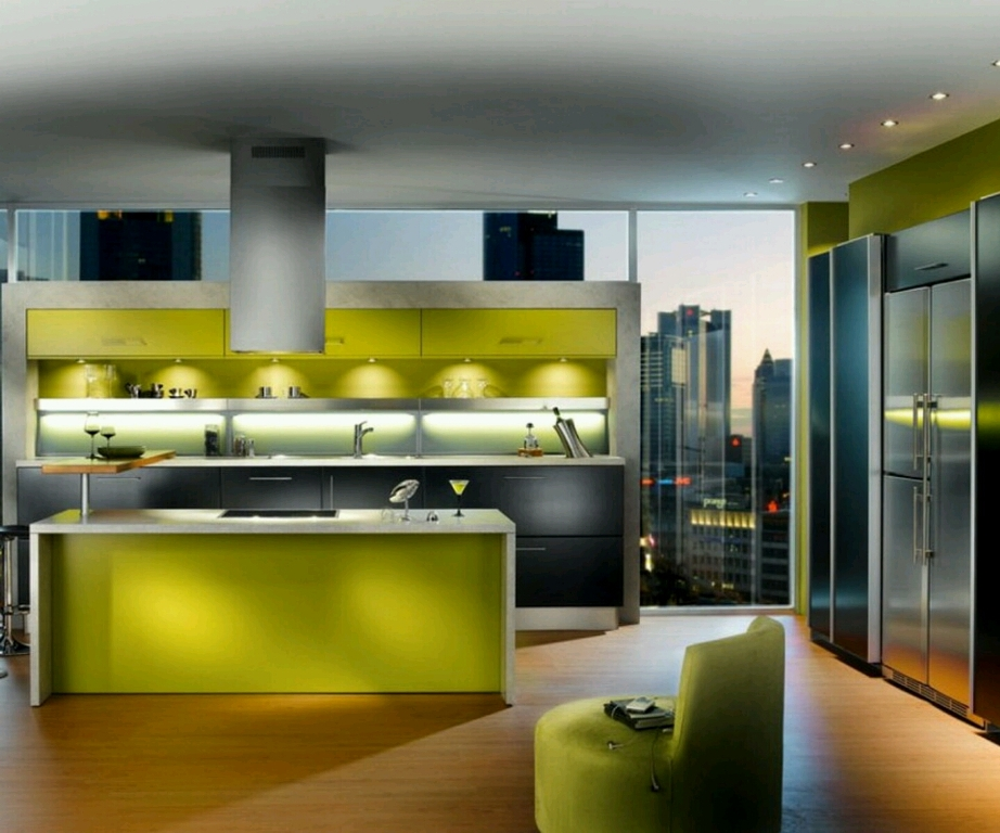 Cool Contemporary Kitchen With Artistic Sight
