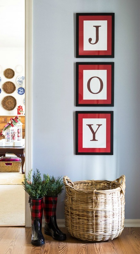 Christmas Wall Decor Diy : Amazing diy christmas wall art ideas