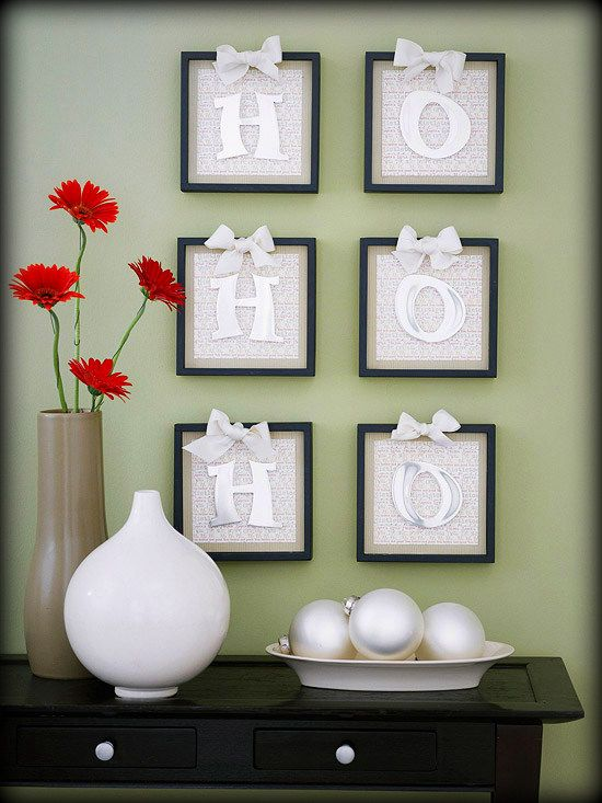 DIY Christmas Wall Art Ideas Thewowdecor (7)