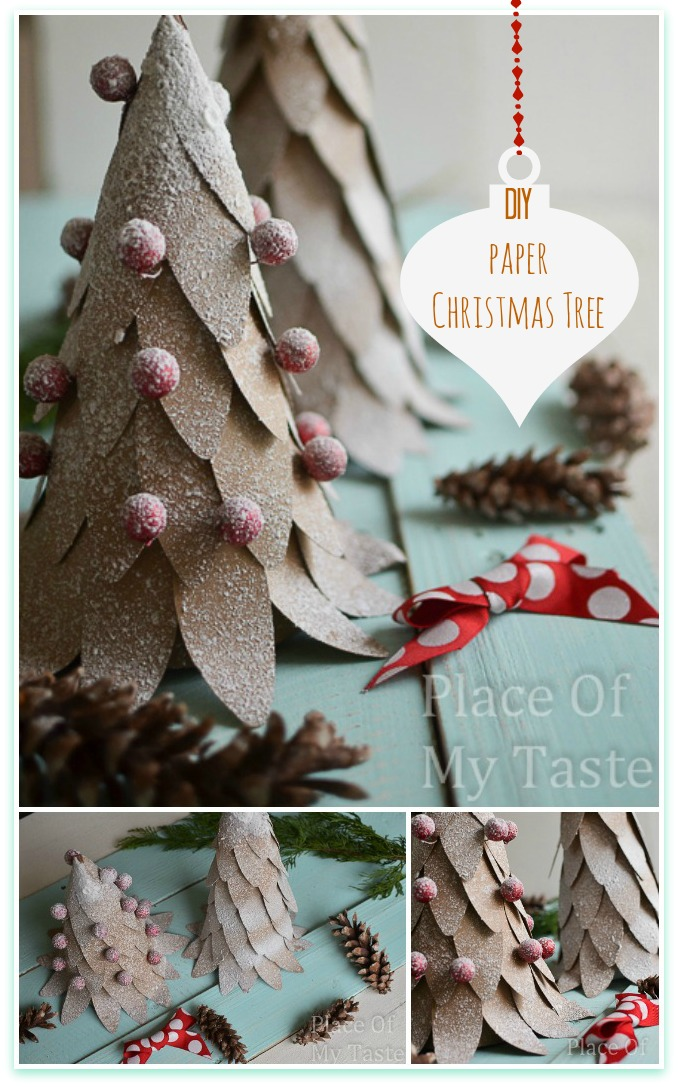 DIY Paper Christmas Tree Thewowdecor