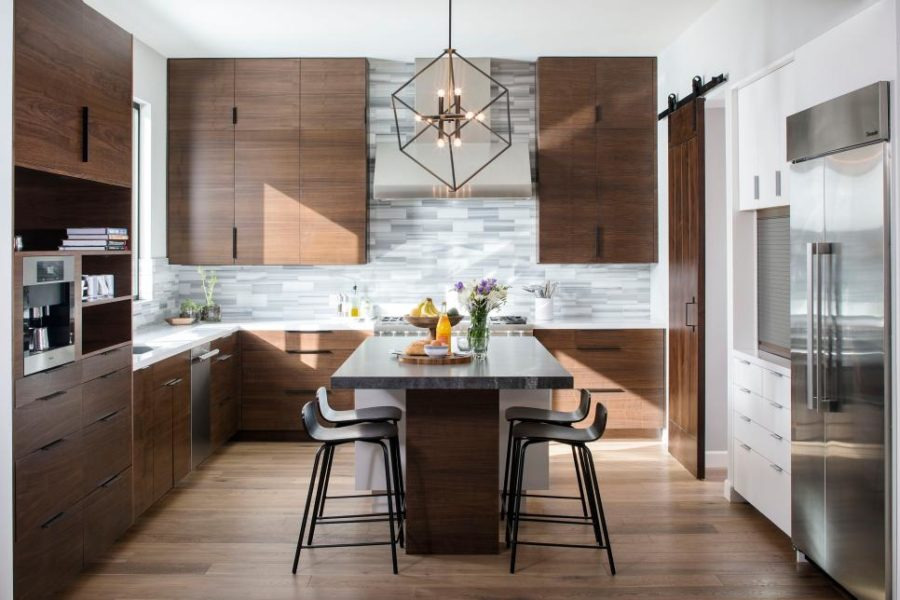 L Shaped Kitchen With Island As Dining Table