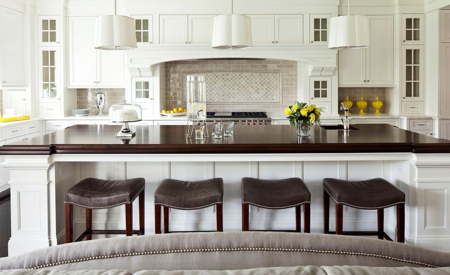 Large Transitional Kitchen Design