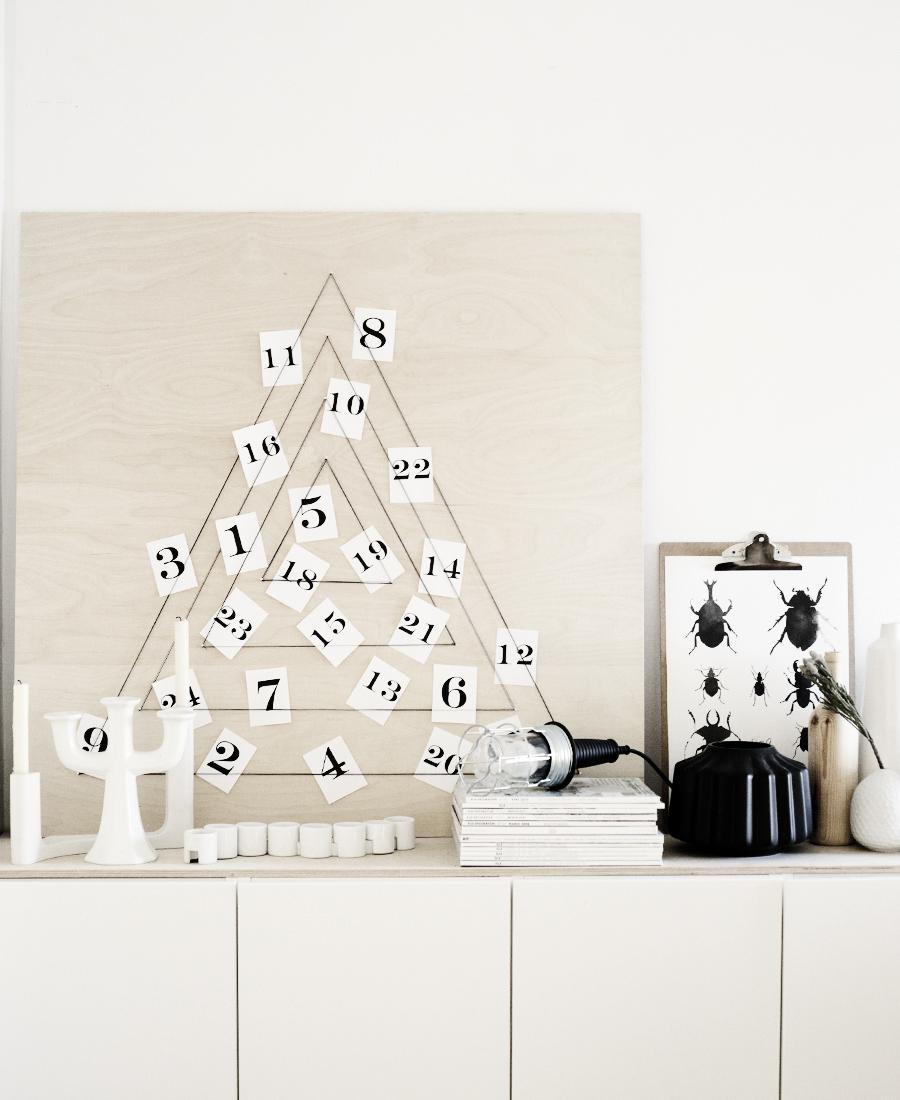 Modern Diy X-mas Calendar Thewowdecor