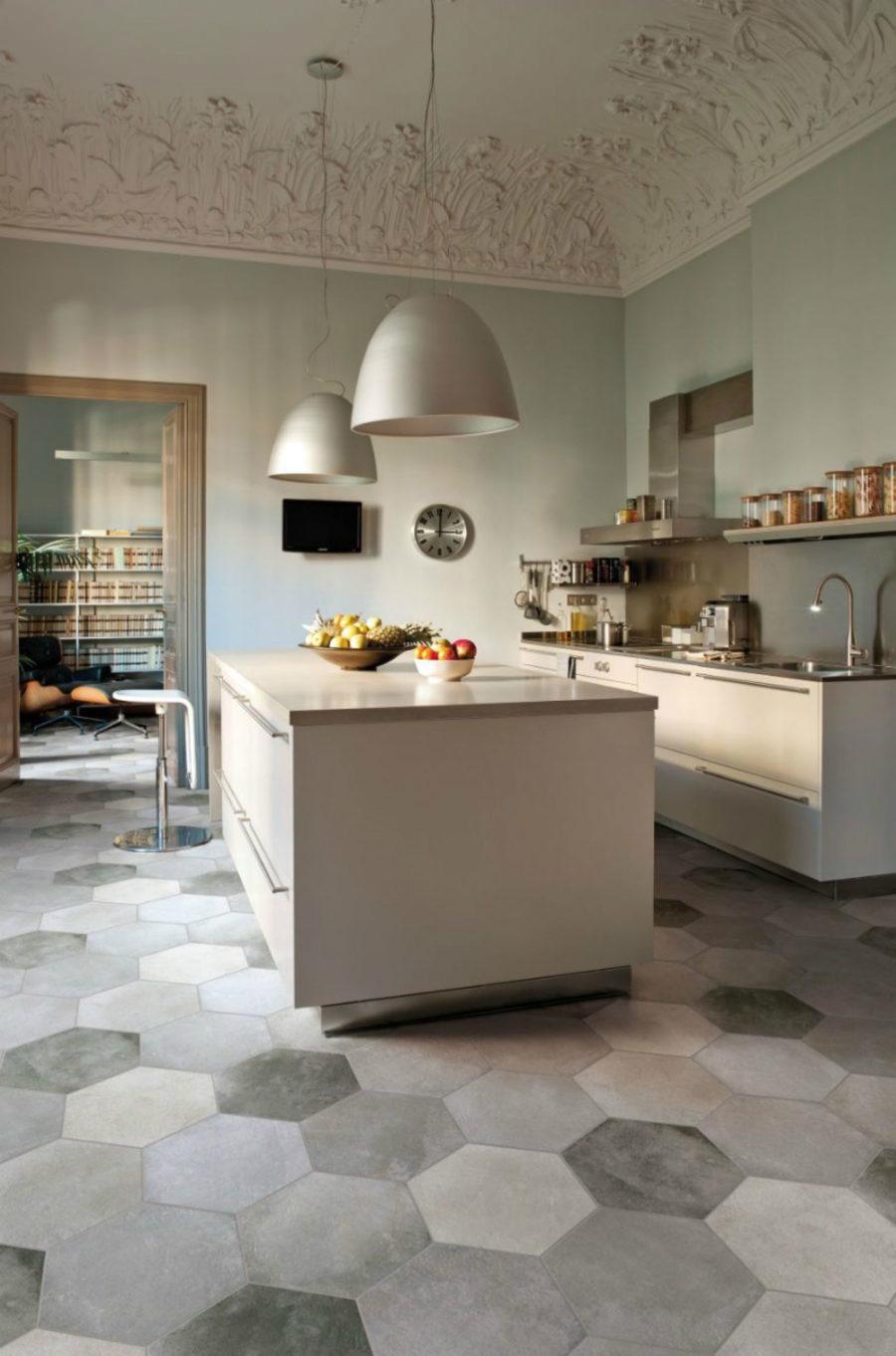 Molded ceiling Kitchen Design