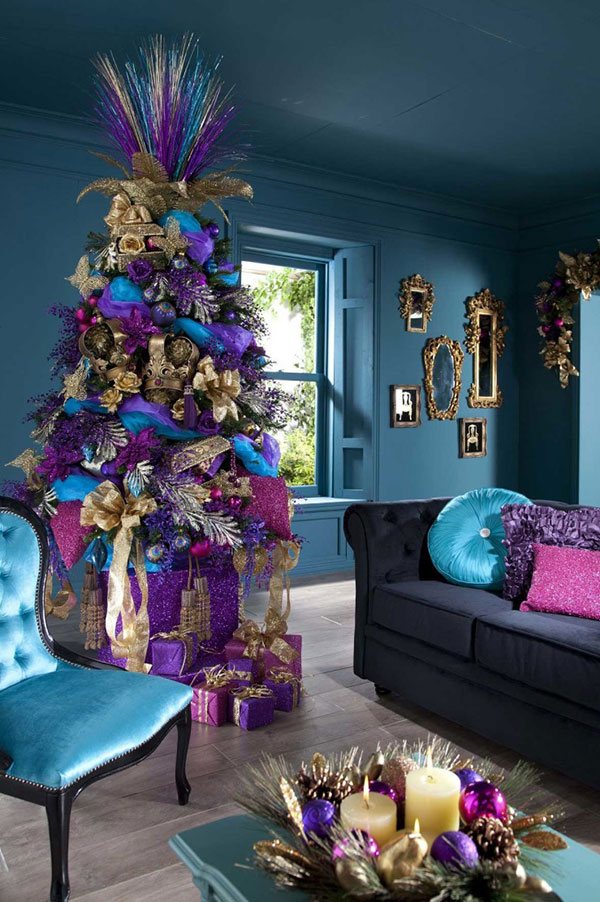 purple christmas tree decoration