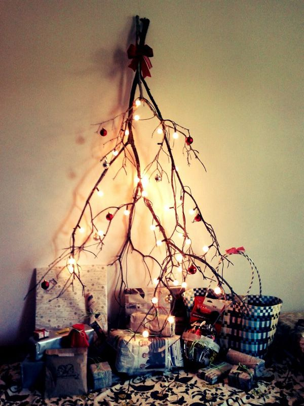 Unique Diy Christmas Tree Made With Branches Thewowdecor