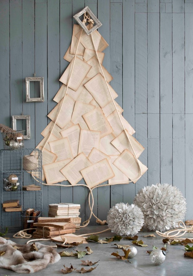 Unique Diy Christmas Tree Made With Papers Thewowdecor