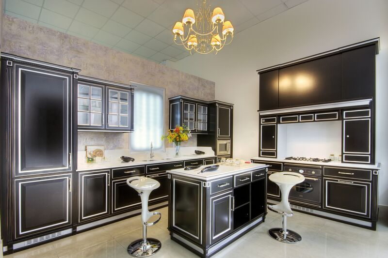 Unique Traditional Black & White Kitchen