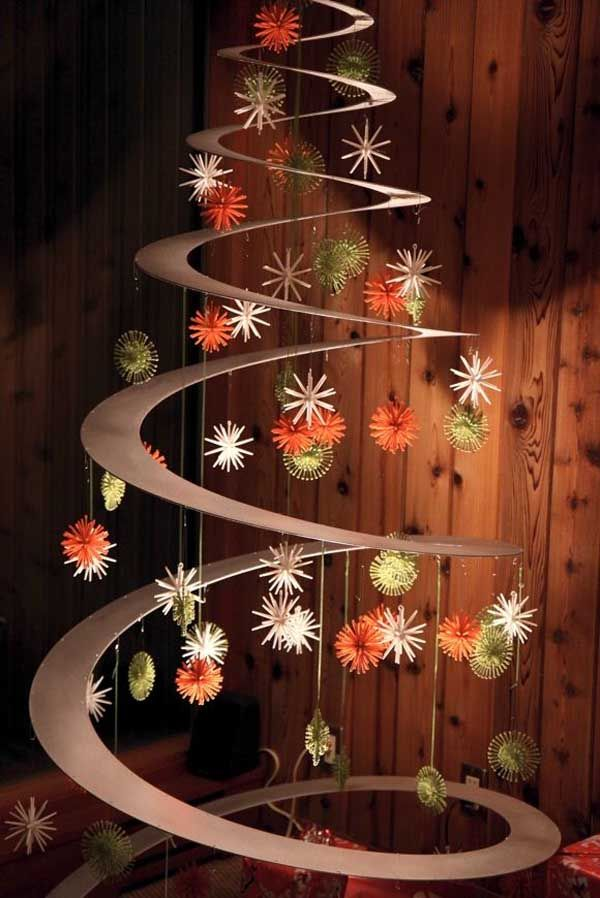 unique and clever alternative christmas tree thewowdecor - Unique Christmas Decorating Ideas