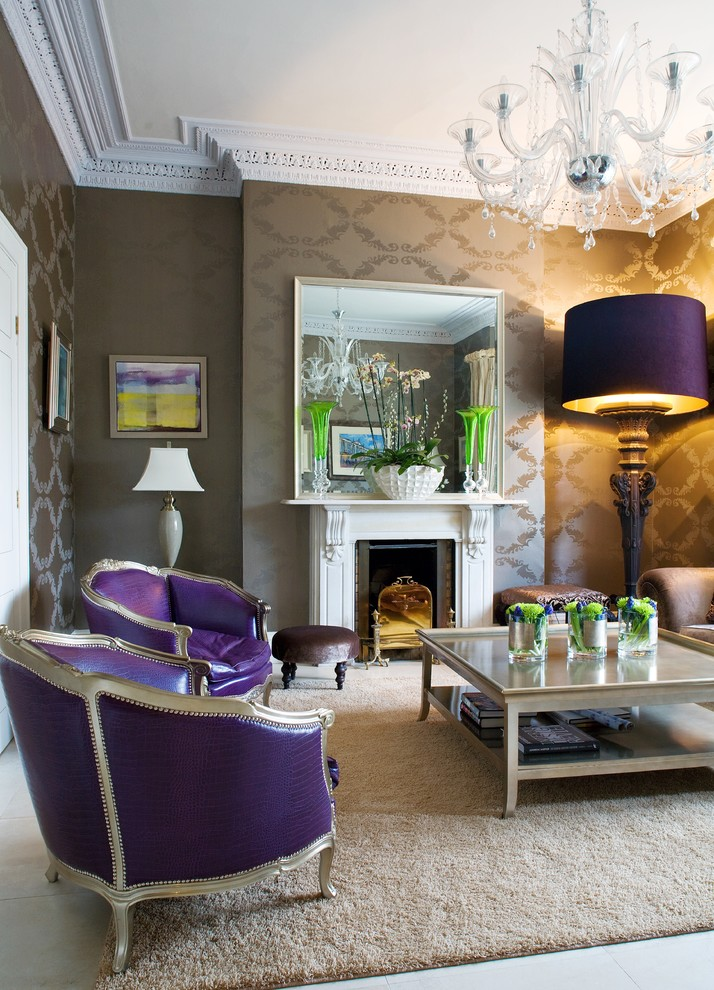 Victorian-Living-Room-Design-with-Purple-Accents
