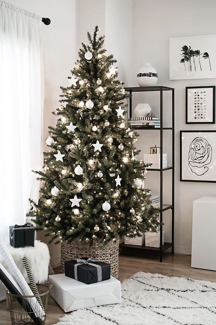 White Christmas Tree Decorations Thewowdecor