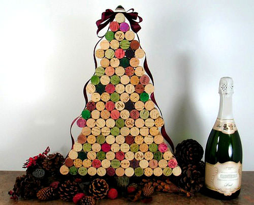 Wine Cork Christmas Tree Thewowdecor