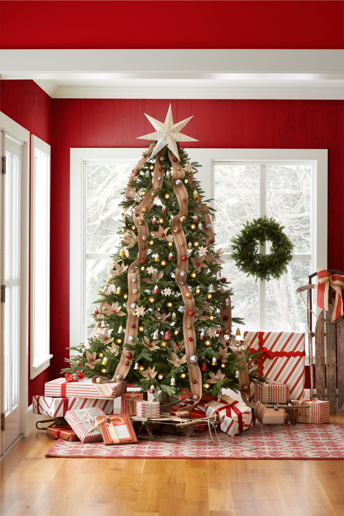 Beautiful Christmas Decorated Living Rooms Picture Window: 30 Best Decorated Christmas Trees 2017