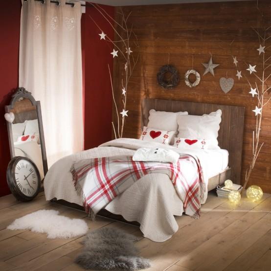 Christmas Bedroom Decor Ideas thewowdecor (15)