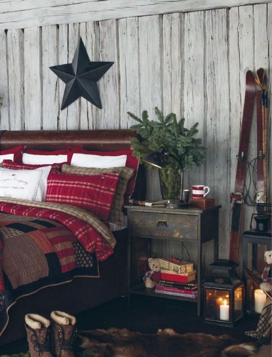 Christmas Bedroom Decor Ideas thewowdecor (35)