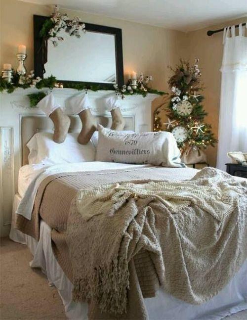 Charmant Christmas Bedroom Decor Ideas Thewowdecor (9)