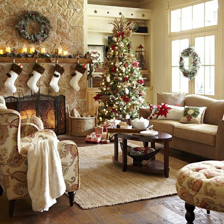 50 Brilliant Living Room Decor Ideas In 2019: 50 Best Christmas Living Room Decor Ideas