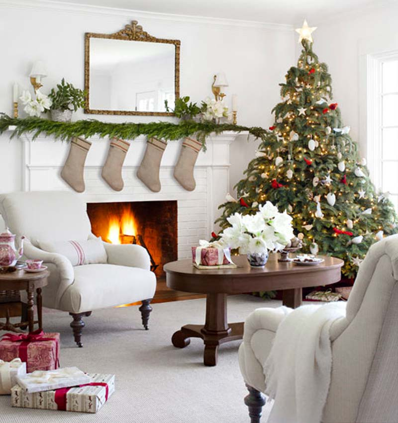 Christmas Living Room Decor Ideas thewowdecor (10)