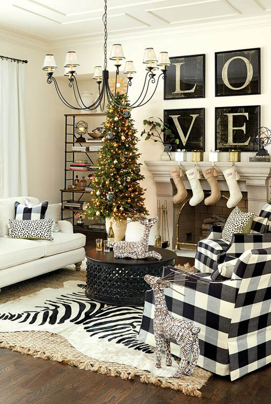 Christmas Living Room Decor Ideas thewowdecor (12)