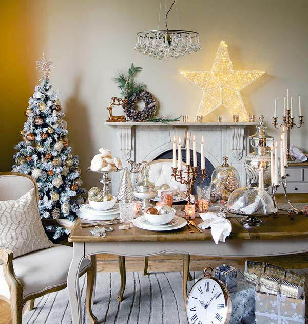 Christmas Living Room Decor Ideas thewowdecor (13)