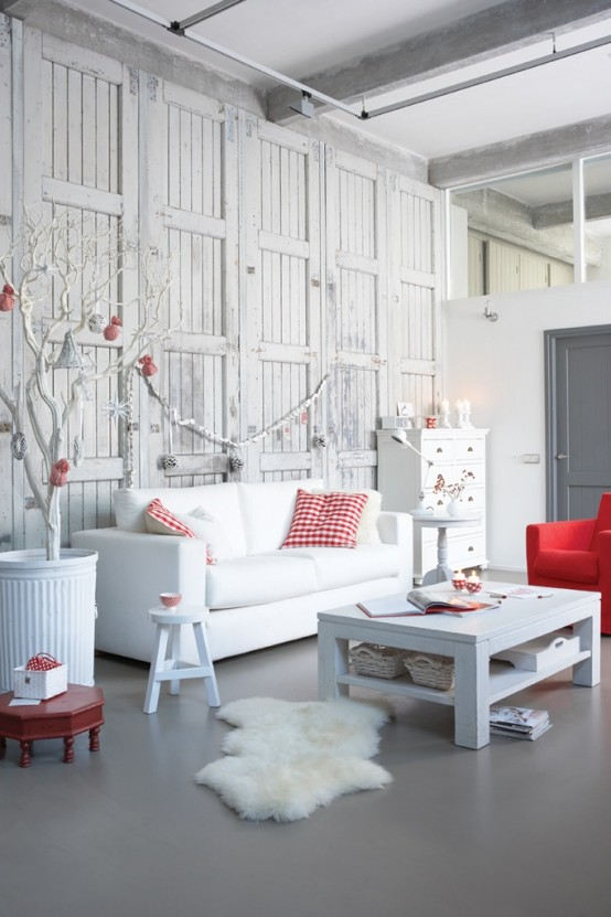 Christmas Living Room Decor Ideas thewowdecor (28)