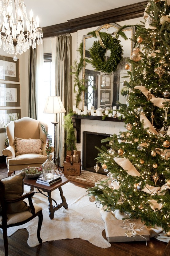 Christmas Living Room Decor Ideas thewowdecor (34)