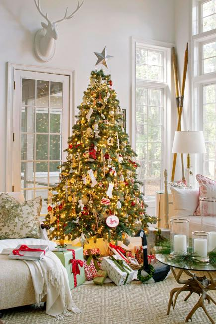 Christmas Living Room Decor Ideas thewowdecor (35)
