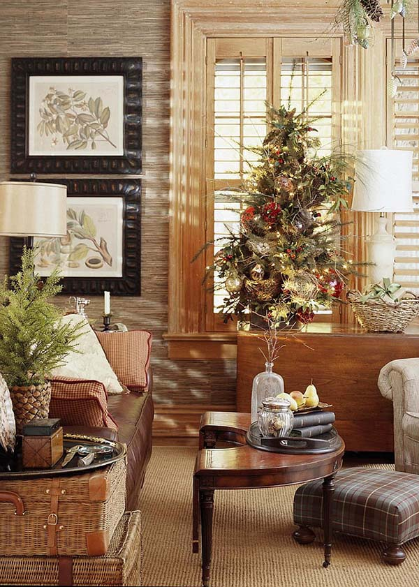 Christmas Living Room Decor Ideas thewowdecor (8)