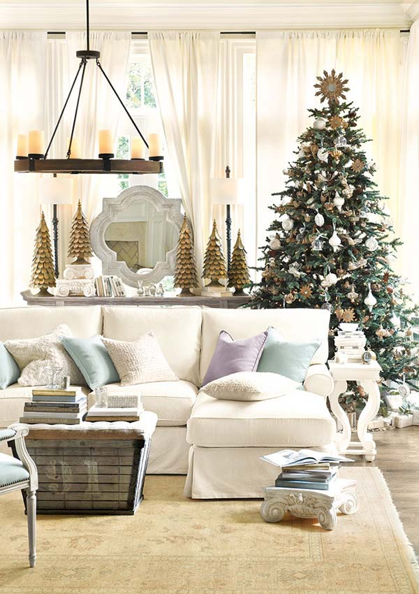 Christmas Living Room Decor Ideas thewowdecor (9)