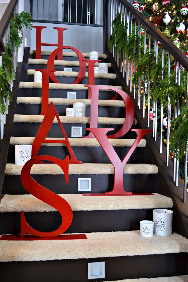 Christmas Stairs Decoration Ideas thewowdecor (12)