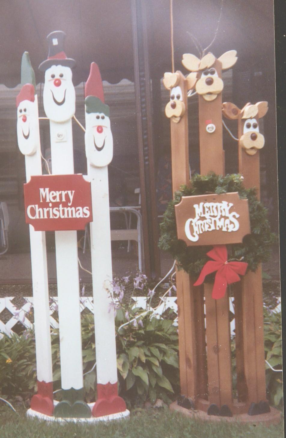 Christmas Wood Yard Art Crafts