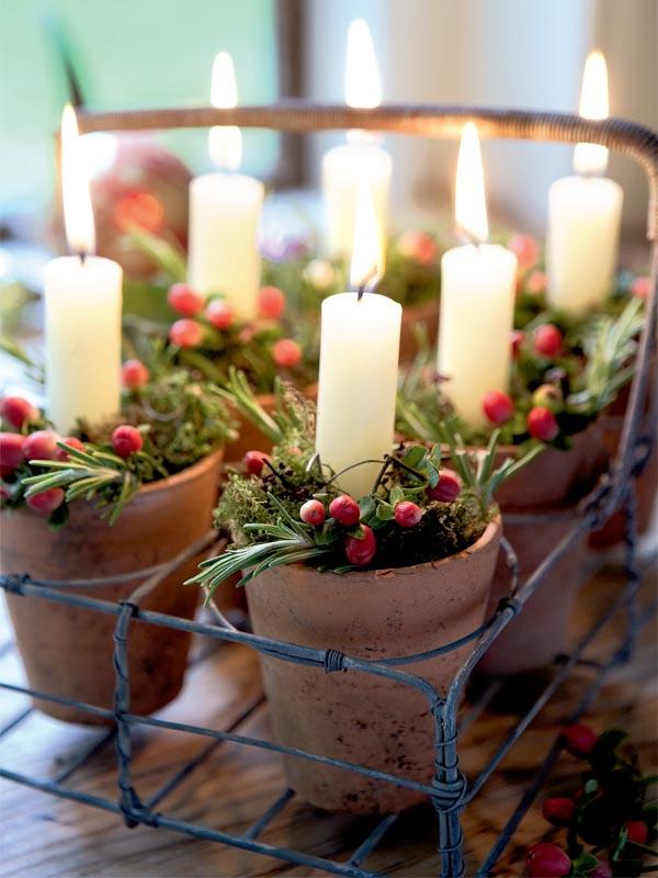 Country Christmas Centerpieces Ideas