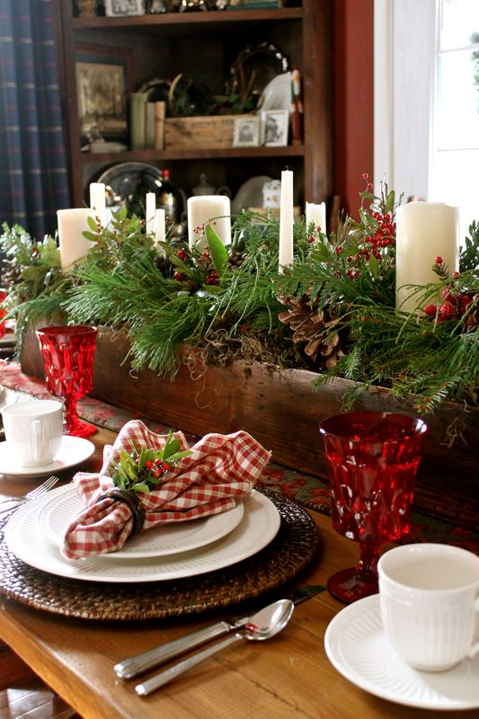 country christmas table centerpiece ideas - Country Christmas Table Decorations