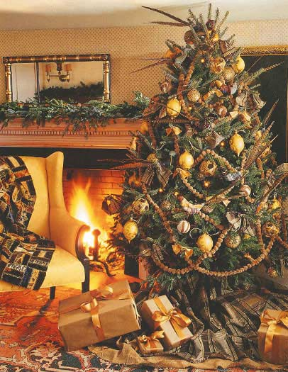 country christmas tree decorating ideas