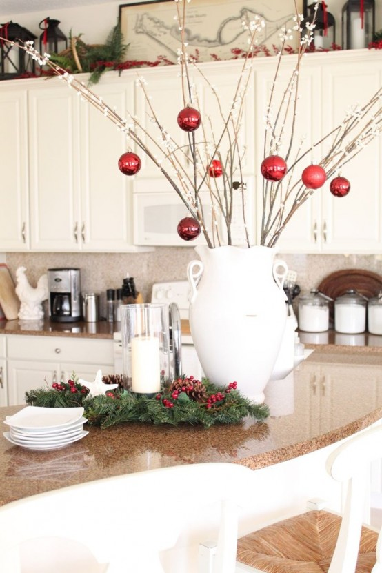 cozy christmas kitchen decor ideas - Christmas Kitchen Decor