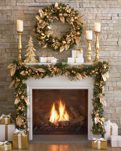 gold christmas decoration ideas 25 - Gold Christmas Decorations