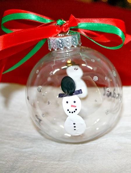 Homemade Snowman Christmas Ornament