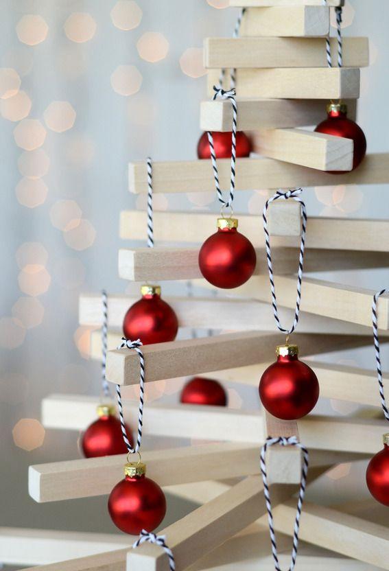 Modern Wooden Tabletop Christmas Tree