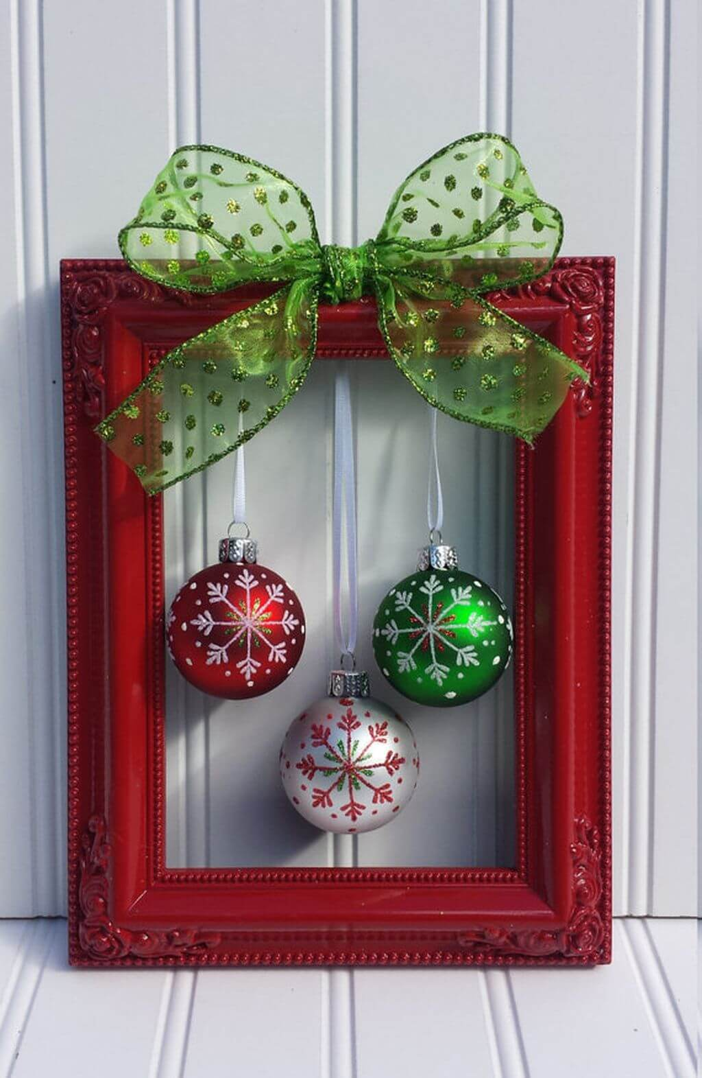 Red, White, and Green Ornaments Worth Framing thewowdecor