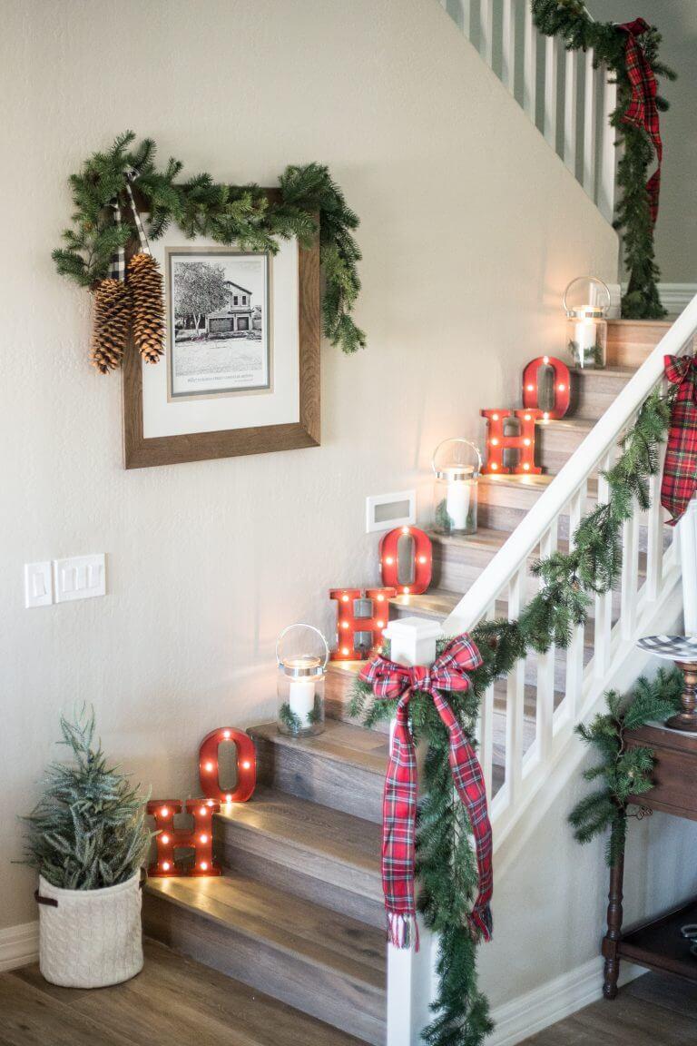 Retro Letter Light Stair Decorations thewowdecor