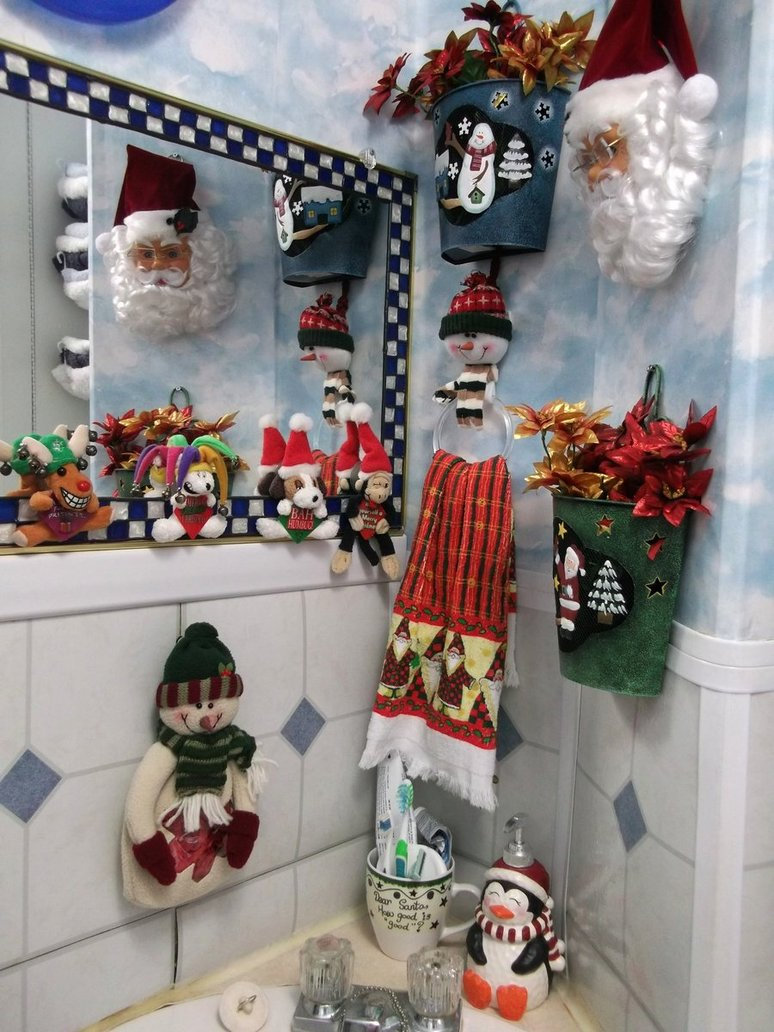 bathroom christmas decoration ideas - Christmas Gate Decoration Ideas