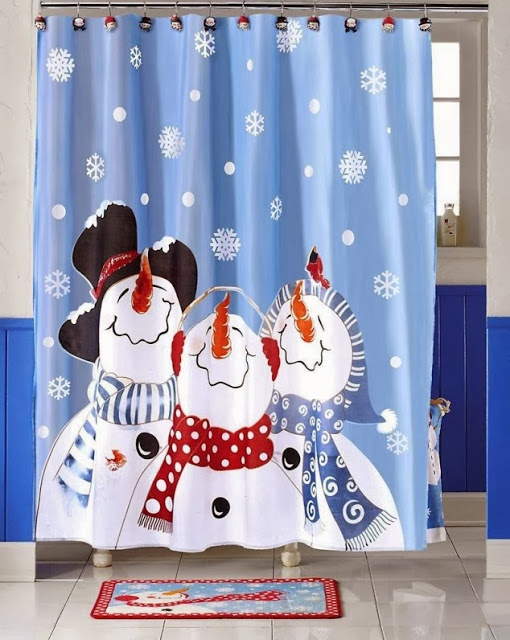 Frosty Friends Shower Curtain