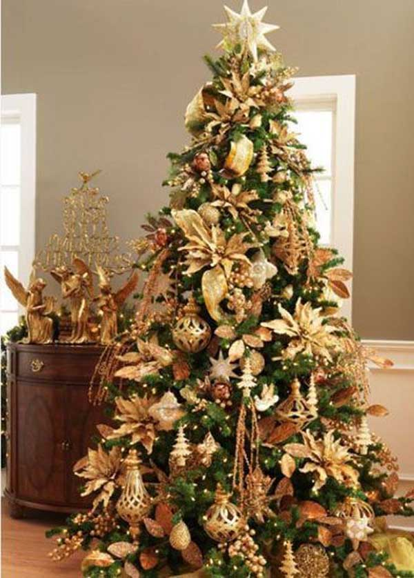 Best Gold Christmas Decoration Ideas - Best red christmas decor ideas